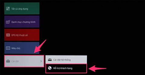 Cách khôi phục cài đặt gốc trên Internet Tivi
