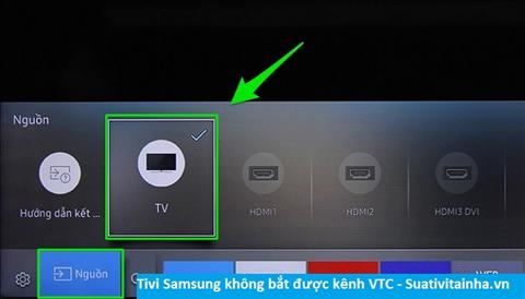 Tivi Samsung không xem được kênh VTC
