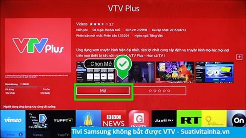 Tivi Samsung không bắt được các kênh của VTV