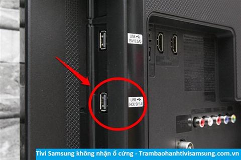 Tivi Samsung không nhận ổ cứng