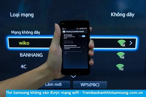 Tivi Samsung không vào được mạng wifi