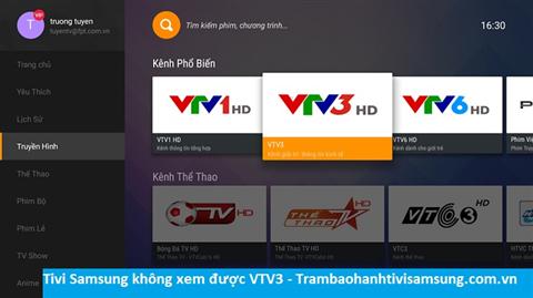Tivi Samsung không xem được vtv3